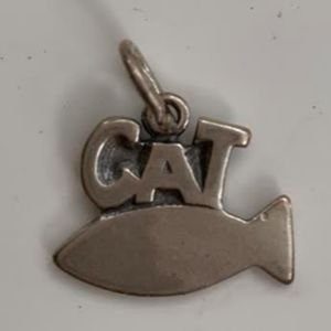 Cat Sterling Silver Jewelry Charm